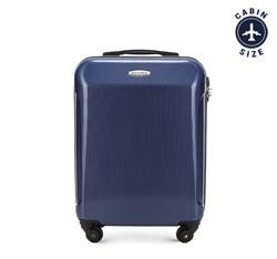 Kabinbőrönd polikarbonát egyenes, sötétkék, 56-3P-971-90, Fénykép 1