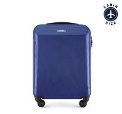 Kabinbőrönd  polikarbonátból egyenes, sötétkék, 56-3P-971-91, Fénykép 1