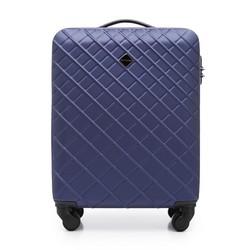 ABS kis bőrönd ferde rácsos, sötétkék, 56-3A-551-91, Fénykép 1