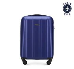 Polikarbonát kis kabin bőrönd, sötétkék, 56-3P-111-90, Fénykép 1