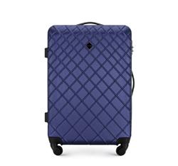 ABS közepes bőrönd ferde ráccsal, sötétkék, 56-3A-552-91, Fénykép 1