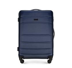 ABS közepes bőrönd bordás, sötétkék, 56-3A-652-90, Fénykép 1