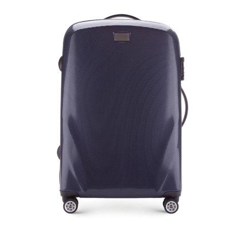 Közepes bőrönd, sötétkék, 56-3P-572-85, Fénykép 1
