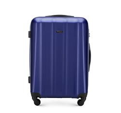 Polikarbonát közepes méretű bőrönd, sötétkék, 56-3P-112-90, Fénykép 1