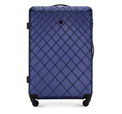 ABS nagy bőrönd ferde ráccsal, sötétkék, 56-3A-553-91, Fénykép 1