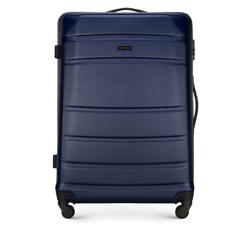 ABS nagy bőrönd bordás, sötétkék, 56-3A-653-90, Fénykép 1