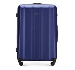 Nagy bőrönd polikarbonát anyagból, sötétkék, 56-3P-113-90, Fénykép 1