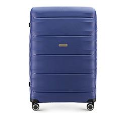 Nagy bőrönd, sötétkék, 56-3T-763-90, Fénykép 1