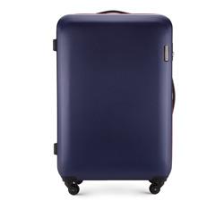 Nagy bőrönd, sötétkék, 56-3-613-90, Fénykép 1