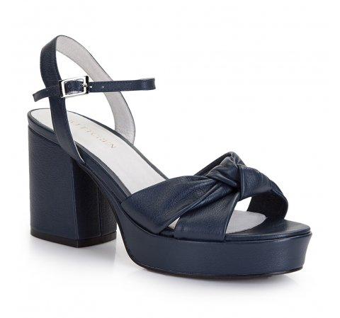 Női cipő, sötétkék, 86-D-907-7-37, Fénykép 1
