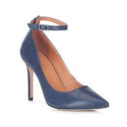 Női cipő, sötétkék, 88-D-551-7-39, Fénykép 1
