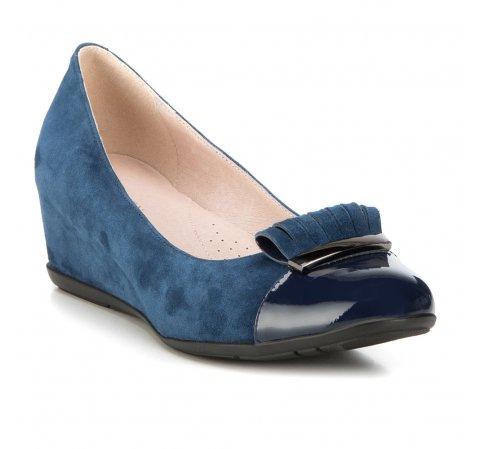 Női cipő, sötétkék, 88-D-953-7-38, Fénykép 1
