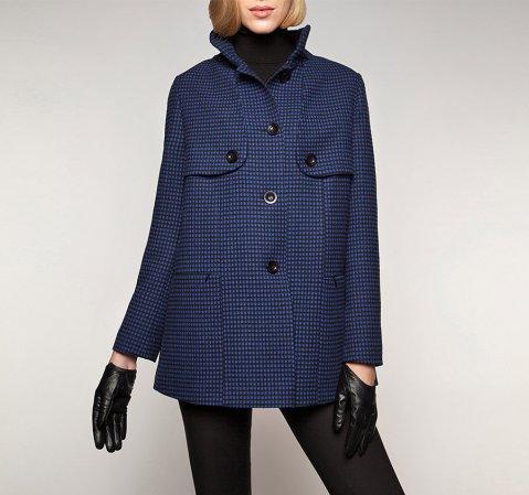 Női kabát, sötétkék, 85-9W-102-1-S, Fénykép 1