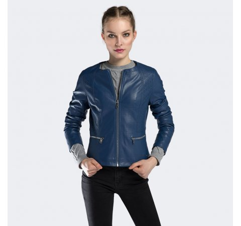 Női kabát, sötétkék, 90-9P-101-P-XS, Fénykép 1