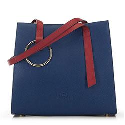 Bevásárló táska, sötétkék-piros, 90-4E-611-7, Fénykép 1