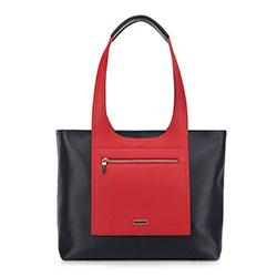 Vásárló táska, sötétkék-piros, 90-4Y-552-7, Fénykép 1