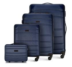 ABS bőröndkészlet, sötétkék, 56-3A-65K-90, Fénykép 1