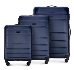 ABS Bőröndkészlet, sötétkék, 56-3A-65S-90, Fénykép 1