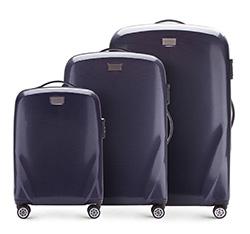 Bőröndszettek, sötétkék, 56-3P-57S-90, Fénykép 1