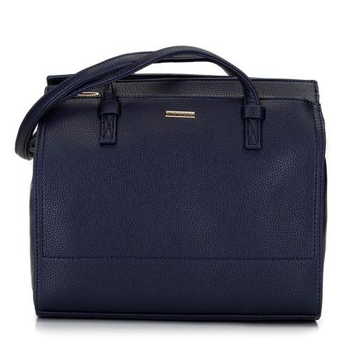 Shoppper táska nagy zsebbel, sötétkék, 92-4Y-611-N, Fénykép 1