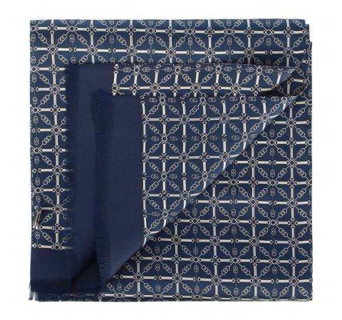 Férfi sál, sötétkék-szürke, 90-7M-S40-X1, Fénykép 1