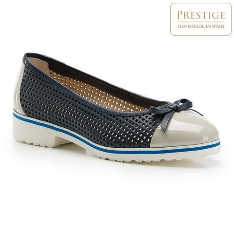 Női cipő, sötétkék-szürke, 86-D-110-9-36, Fénykép 1