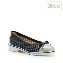 Női cipő, sötétkék-szürke, 86-D-110-9-38_5, Fénykép 1