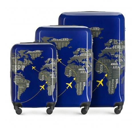 ABS Bőröndszett polikarbonát, sötétkék-szürke, 56-3A-46S-9C, Fénykép 1
