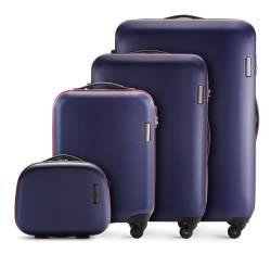 Bőrönd komplet 4 db görgős, sötétkék, 56-3-61K-90, Fénykép 1