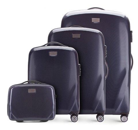 Bőröndszettek, sötétkék, 56-3P-57K-90, Fénykép 1
