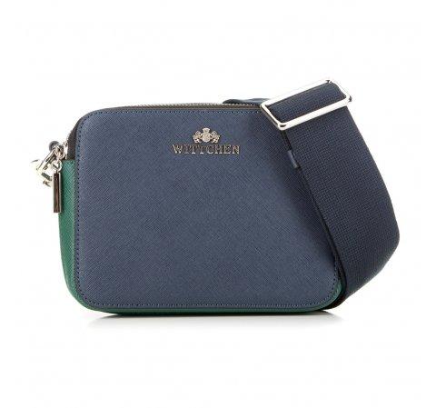 Női táska, sötétkék-zöld, 89-4E-507-X2, Fénykép 1