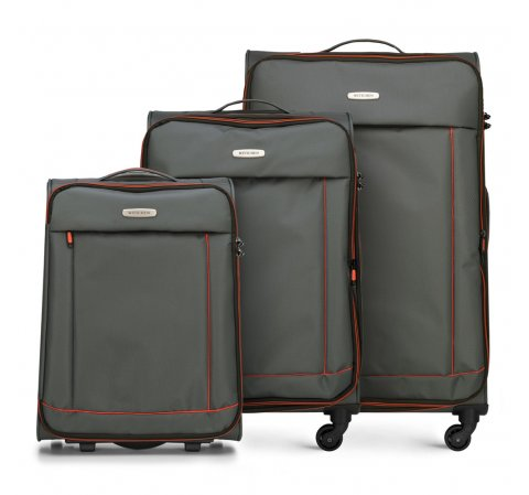 Bőröndszettek, sötét szürke, 56-3S-46S-12, Fénykép 1