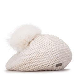 Dámská baretka, špinavě bílá, 93-HF-005-0, Obrázek 1