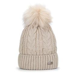 Dámská čepice, špinavě bílá, 93-HF-011-0, Obrázek 1