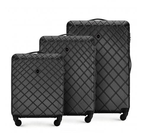 Комплект чемоданов, сталь - черный, 56-3A-55S-30, Фотография 1