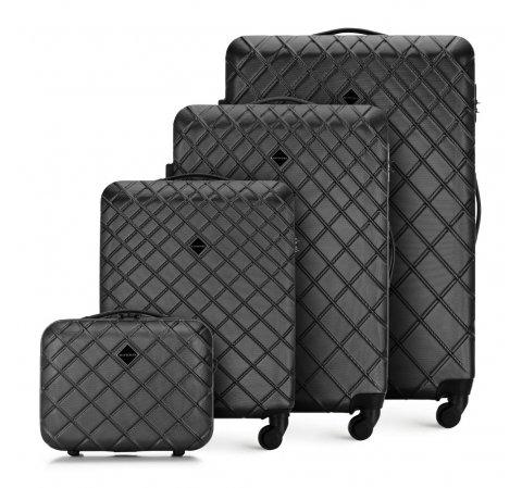 Комплект чемоданов, сталь - черный, 56-3A-55K-11, Фотография 1