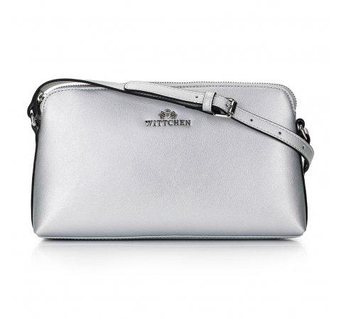 Dámská kabelka, stříbrno-černá, 29-4E-001-S, Obrázek 1