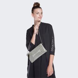 Dámská kabelka, stříbrno-černá, 86-4Y-802-S, Obrázek 1