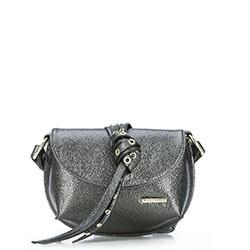 Dámská kabelka, stříbrno-černá, 87-4Y-412-S, Obrázek 1