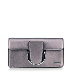 Dámská kabelka, stříbrno-černá, 88-4Y-508-S, Obrázek 1