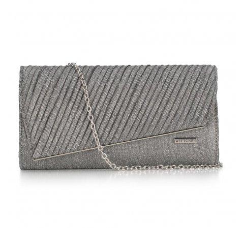 Dámská kabelka, stříbrno-černá, 89-4Y-305-P, Obrázek 1