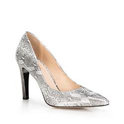 Dámské boty, stříbrno-černá, 90-D-200-S-39, Obrázek 1
