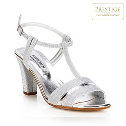 Dámské boty, stříbrno-černá, 88-D-401-S-38, Obrázek 1