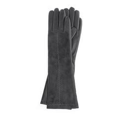 Dámské rukavice, stříbrno-černá, 39-6-564-S-V, Obrázek 1