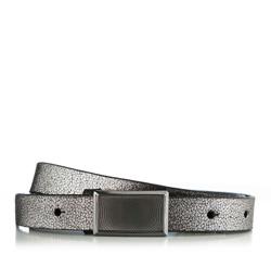 Dámský opasek, stříbrno-černá, 85-8D-313-S-2X, Obrázek 1