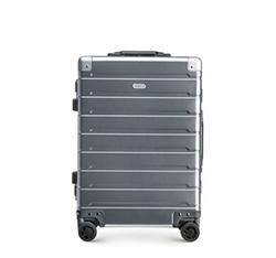 Kabinový cestovní kufr, stříbrno-černá, 56-3H-101-12, Obrázek 1