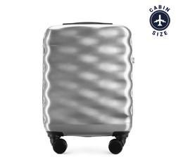 Kabinový cestovní kufr, stříbrno-černá, 56-3H-561-00, Obrázek 1