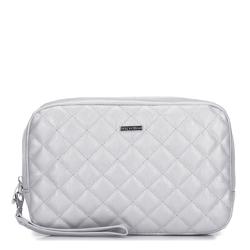 Dámská kosmetická taška, stříbrno-černá, 92-3-101-S, Obrázek 1