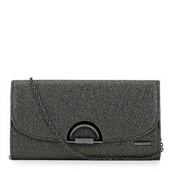 Dámská kabelka, stříbrno-černá, 90-4Y-304-S, Obrázek 1