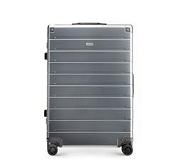 Střední kufr, stříbrno-černá, 56-3H-102-12, Obrázek 1